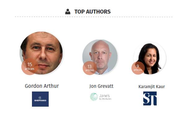 Top Authors - Singapore Airshow 2018